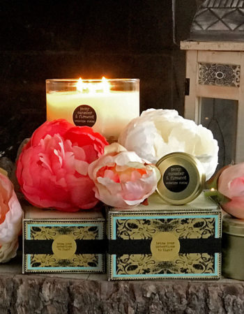 Peony, Cucumber & Firewood Organic Coconut Butter Scented Candle