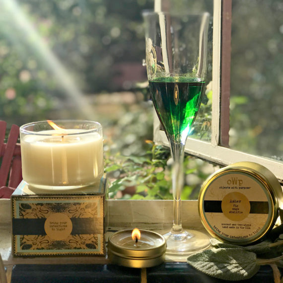 Black Fig, Sage & Absinthe Organic Coconut Butter Scented Candle