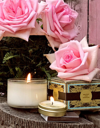 Rose & Lychee Organic Coconut Butter Scented Candle