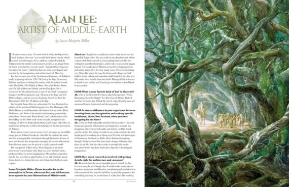 Alan Lee: Artist of Middle Earth - Faerie Magazine, Issue 42