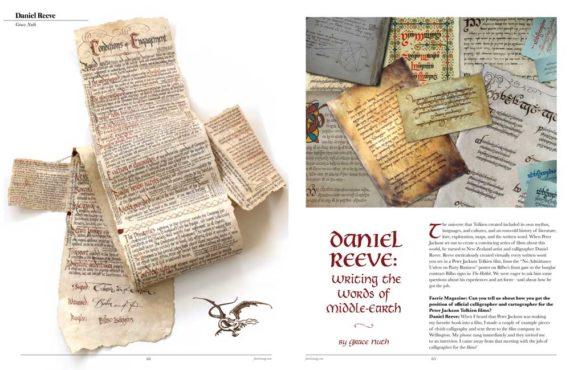 Daniel Reeve: Writing the Words of Middle Earth - Faerie Magazine, Issue 42