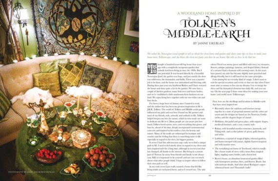A Woodland Home Inspired By Tolkien's Middle Earth - Faerie Magazine, Issue 42