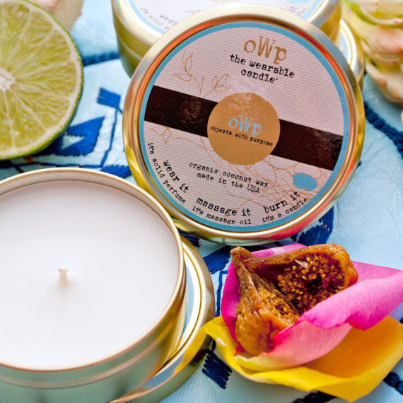 White Tea, Fig & Tobacco Organic Coconut Butter Scented Candle