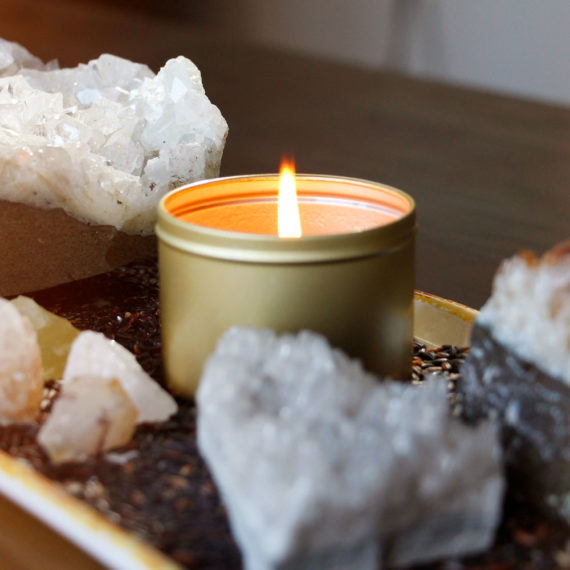 Tahitian Vanilla, Cardamom, & Lime Zest Organic Coconut Butter Scented Candle